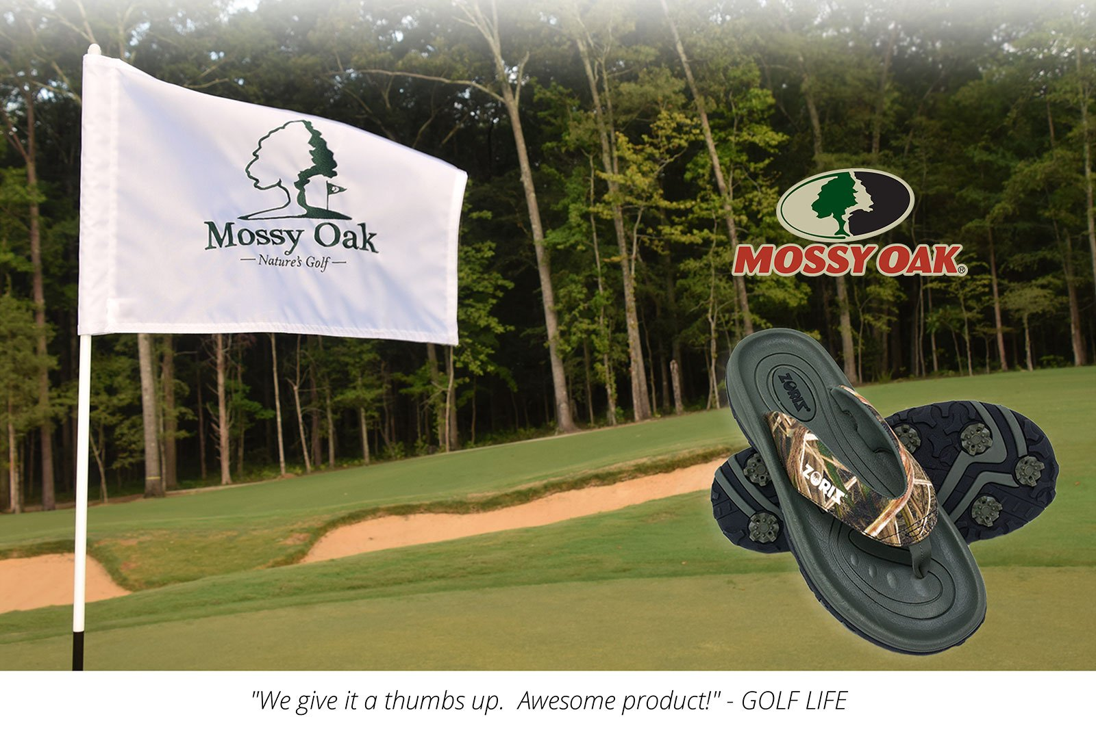 Mossy Oak Golf Sandals, Zoriz Golf Shoes