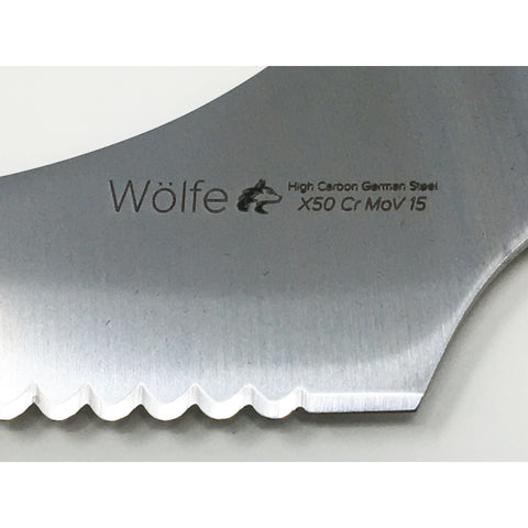 Wolfe Offset Bread Knife 9""
