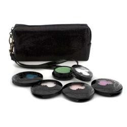Anna Sui Eye Color Set: 4x Eye Color Accent + 1x Eye Gloss + Black Cosmetic Bag --5pcs+1bag By Anna Sui - Natural Peach