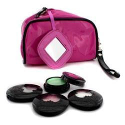 Anna Sui Eye Color Set: 3x Eye Color Accent + 1x Eye Gloss + Pink Cosmetic Bag --4pcs+1bag By Anna Sui - Natural Peach