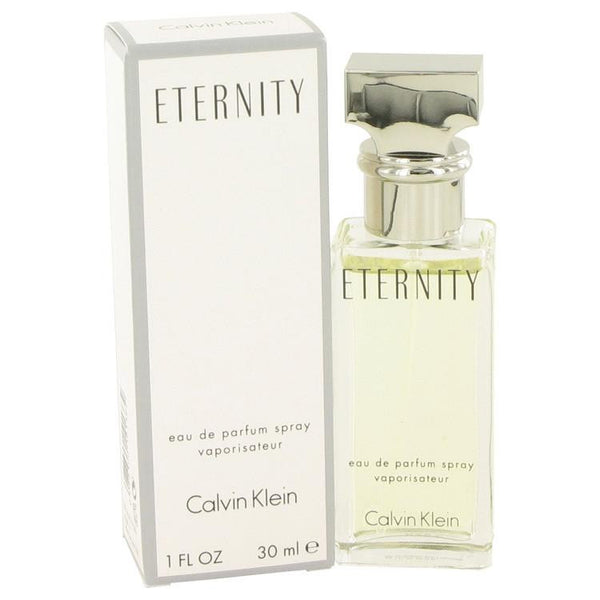 ETERNITY by Calvin Klein Eau De Parfum Spray 1 oz - Natural Peach