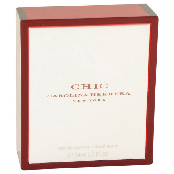 Chic by Carolina Herrera Eau De Parfum Spray 1.7 oz - Natural Peach