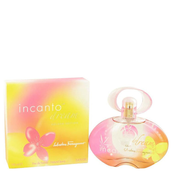 Incanto Dream by Salvatore Ferragamo Eau De Toilette Spray (Golden Edition) 3.4 oz - Natural Peach