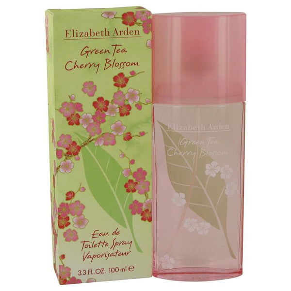 Green Tea Cherry Blossom by Elizabeth Arden Eau De Toilette Spray 3.3 oz - Natural Peach