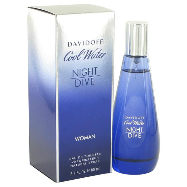 Cool Water Night Dive by Davidoff Eau De Toilette Spray 2.7 oz - Natural Peach