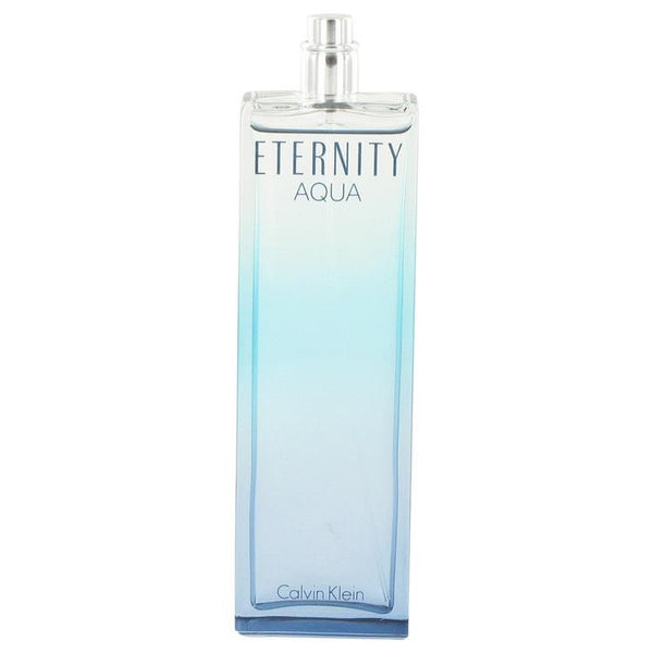 Eternity Aqua by Calvin Klein Eau De Parfum Spray (Tester) 3.4 oz - Natural Peach