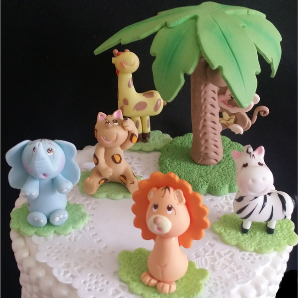 Lion Birthday Decorations Jungle Safari Cake Toppers