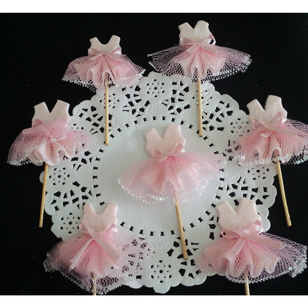 Ballet Birthday Decoration Ballet Cupcake Toppers Decoration Tutus For Cupcakes 12pcs - Cake Toppers Boutique