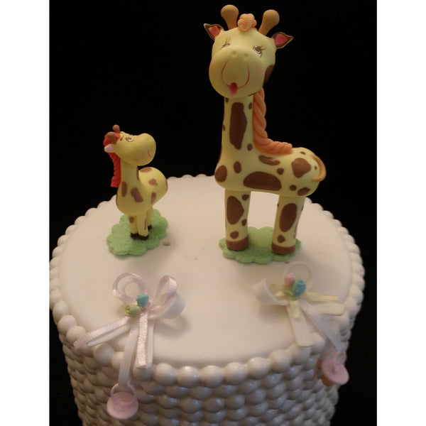Mommy Giraffe and Baby Cake Topper Baby Giraffe Cake Decorations 2pcs - Cake Toppers Boutique