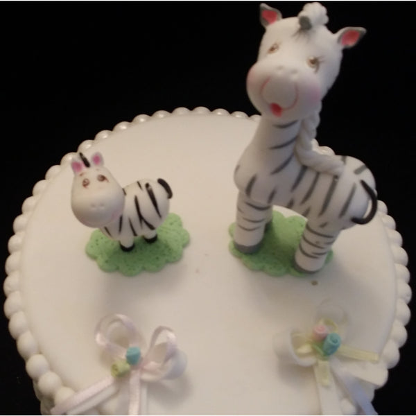 Zebra and Baby Cake Topper Mommy Zebra and Baby Cake Decorations 2pcs - Cake Toppers Boutique
