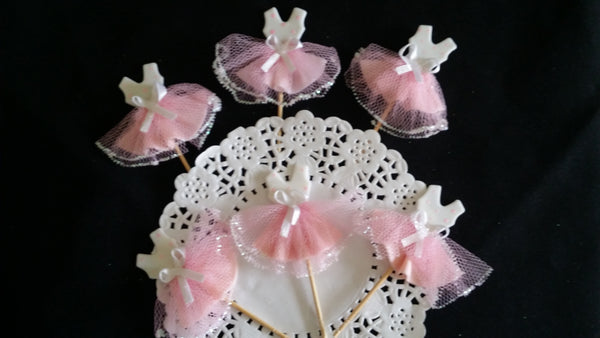 Ballet Cupcake Topper for Ballerina Baby Shower and Birthday Decorations 12pcs - Cake Toppers Boutique