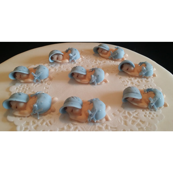 Corsage Babies Figurines Babies in Pink White or Blue Corsage Figurines 12pcs - Cake Toppers Boutique