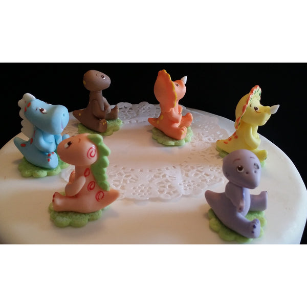 Dinosaur cake topper decorations dinosaur baby shower for Baby tv birthday decoration