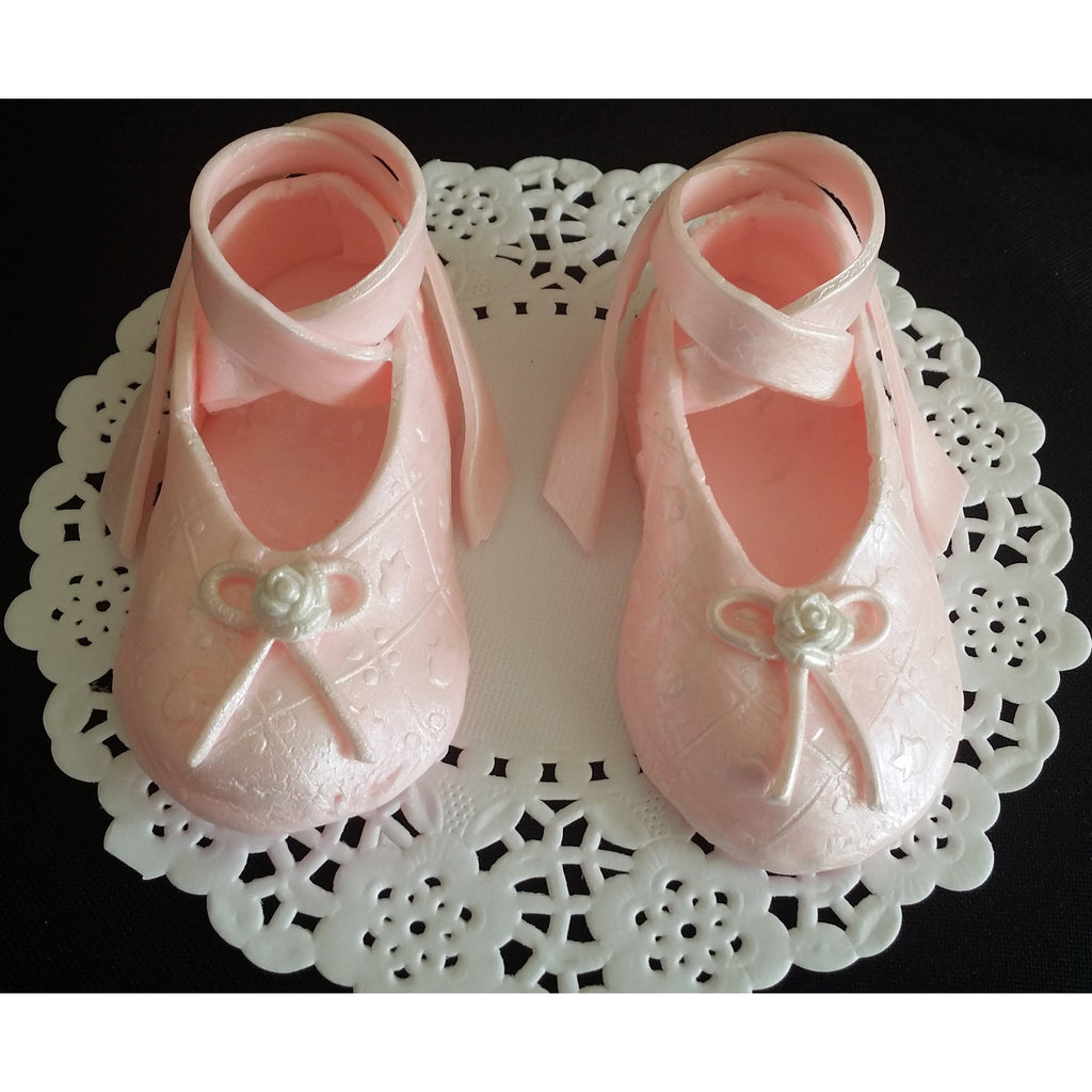 Ballerina shoes cake topper ballerina baby shower ballet for Ballet shoes decoration