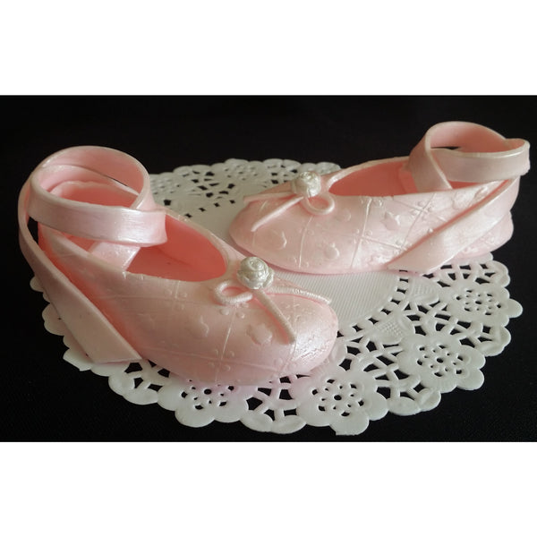 Cake Decorations Baby Shoes