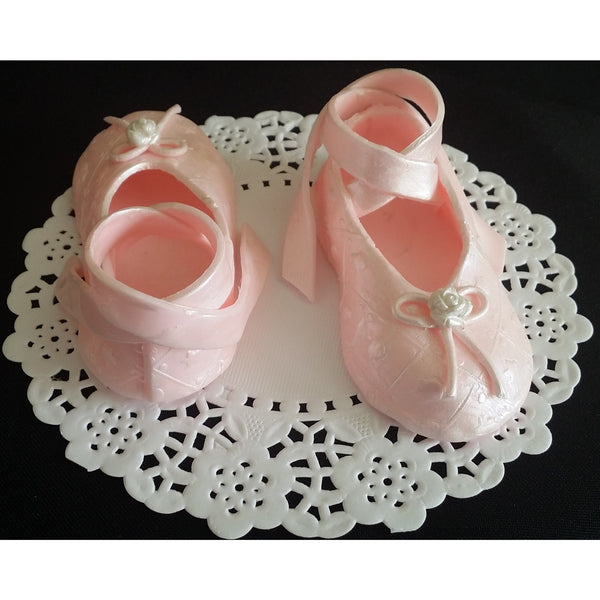 Ballerina Shoes Cake Topper Ballerina Party Decorations Ballet Cake Topper Girl Birthday Cake - Cake Toppers Boutique