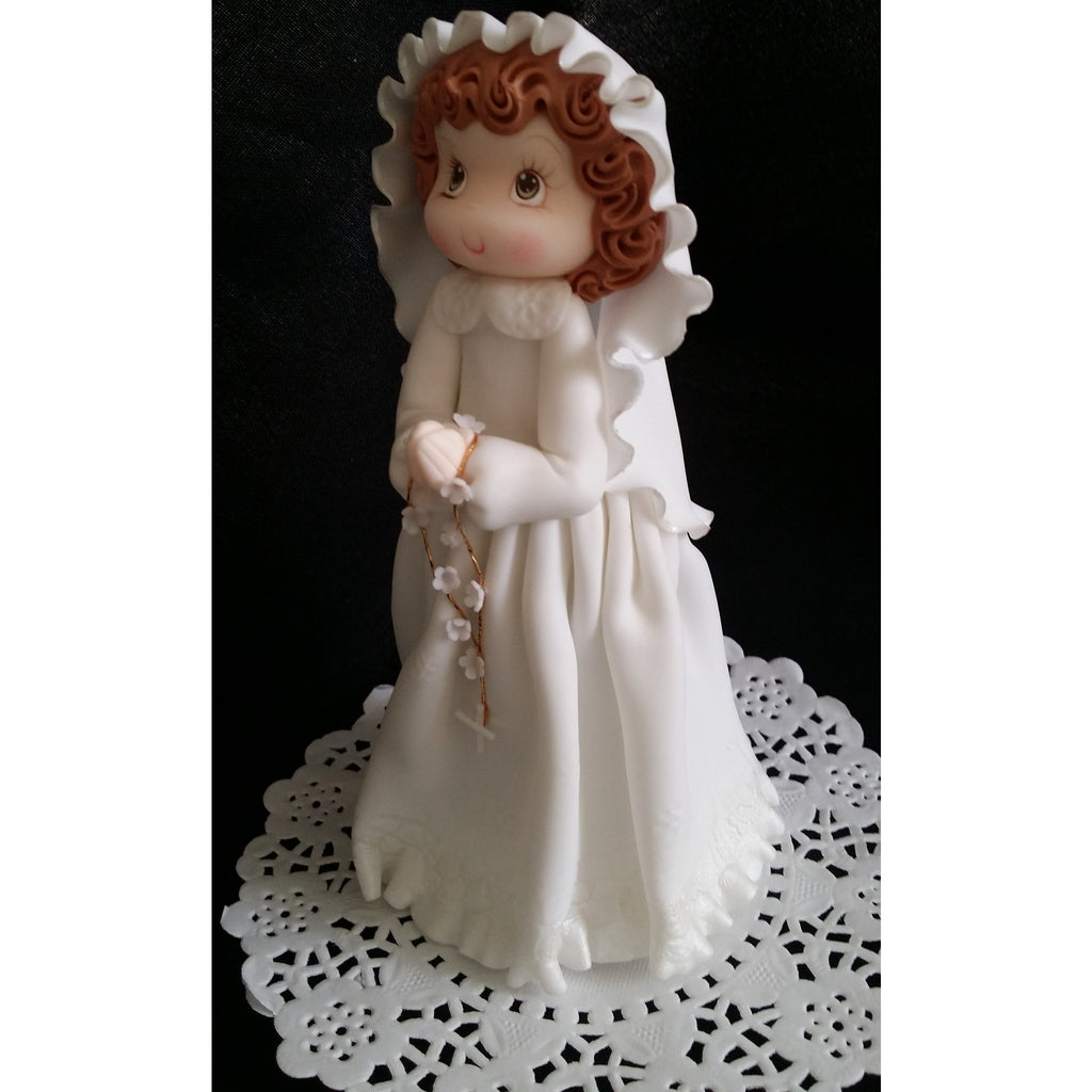 Praying First Communion Girl or Boy Holly Communion Cake Decoration - Cake Toppers Boutique