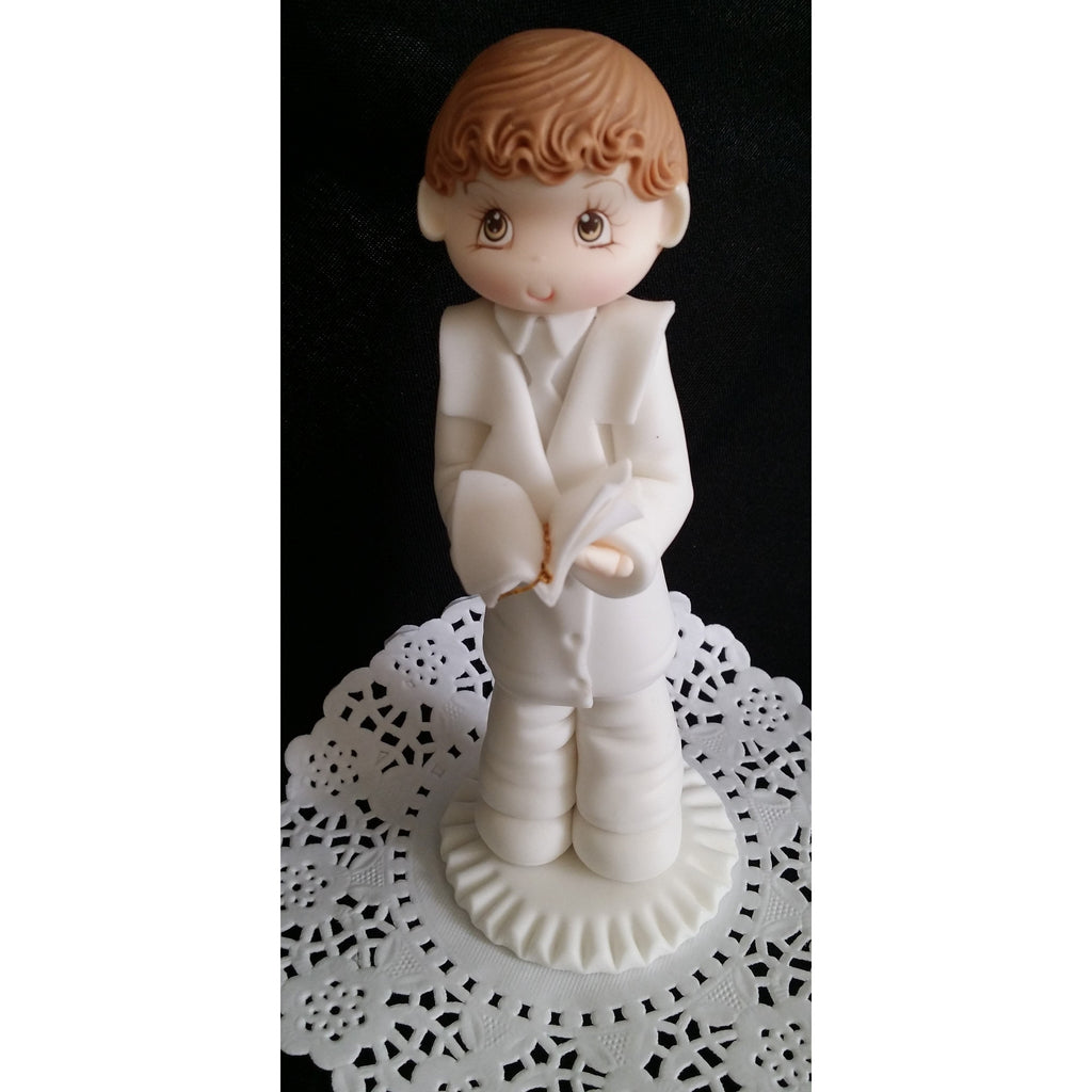 Boy or girl first communion cake topper twins