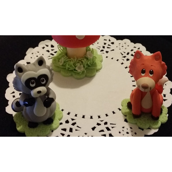 Woodland Animal Cake Toppers, Woodland Decorations, Woodland Birthday Decor, Woodland Baby Shower - Cake Toppers Boutique
