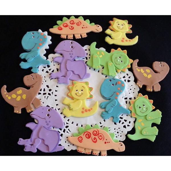 Dinosaur Cake Topper, Dinosaur Baby Shower, Dinosaurs Birthday Cake Decorations 12pcs - Cake Toppers Boutique