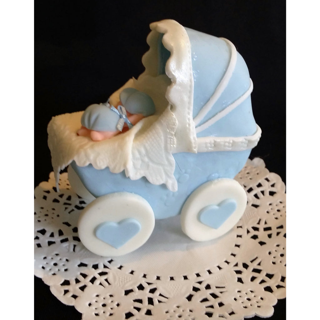 baby shower cake topper baby carriage cake decoration pink baby