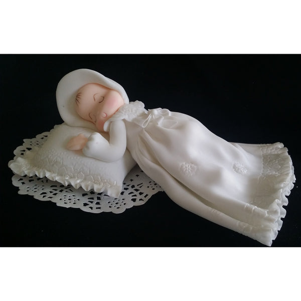 Slepping Baby Baptism Cake Topper Boy Girl Christening Cake Decoration - Cake Toppers Boutique