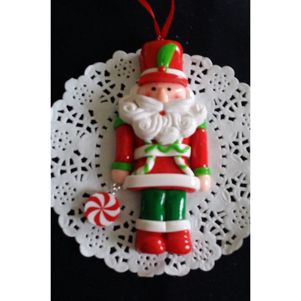 Santa's Christmas Ornaments, Christmas Tree Decorations, Santa Claus Tree Ormament - Cake Toppers Boutique