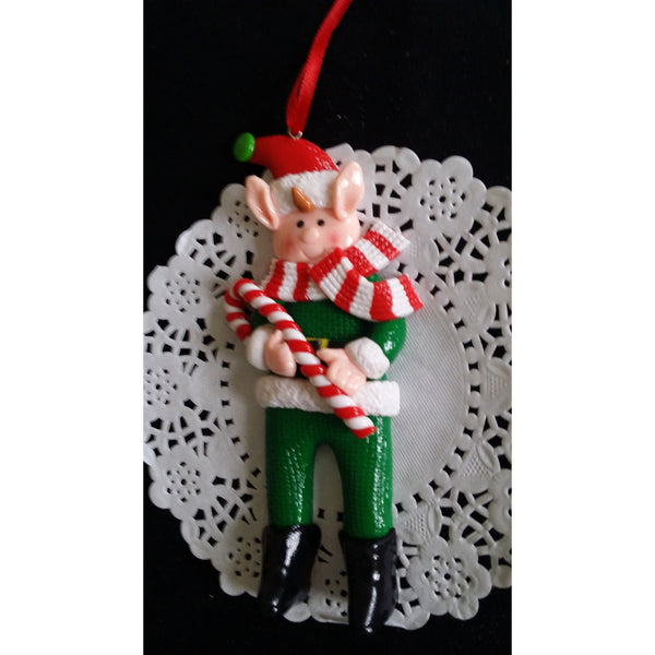 Elf Christmas Ornaments, Elf Christmas Tree Decorations, Red Christmas Ormament - C T B
