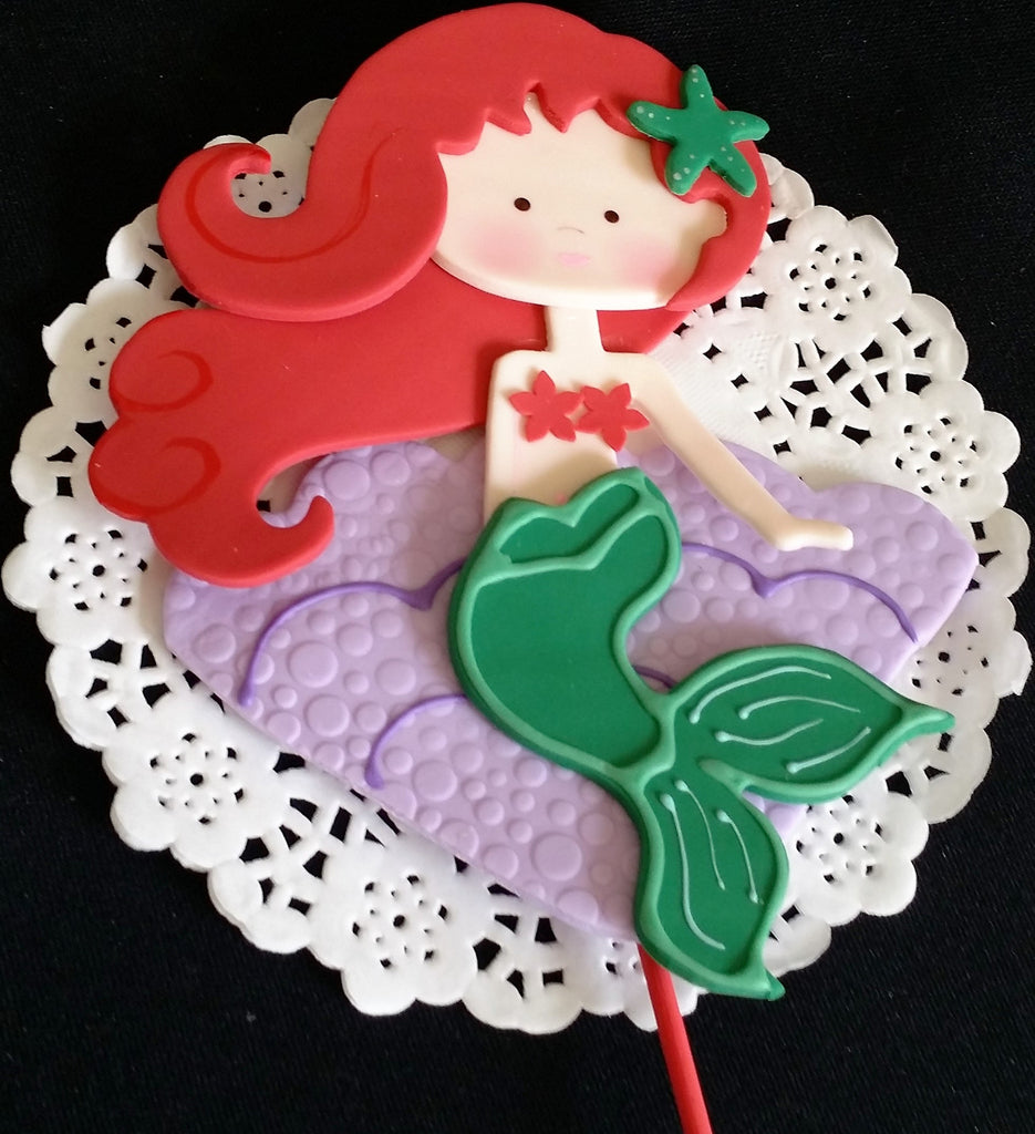 Mermaid Cake Toppers Baby Shower Birthday Decorations Centerpiece Picks