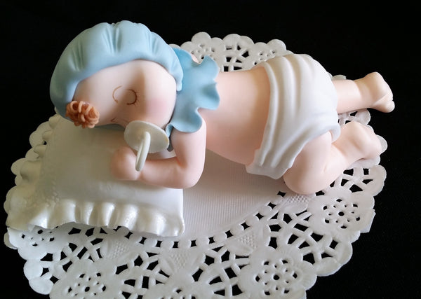 Baby Girl or Boy Cake Toppers Twin Babies Cake Decoration Baby Shower Decorations - Cake Toppers Boutique