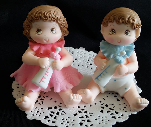 Baby Shower Cake Topper Twins Baby Shower Decorations Girl or Boy Cake Topper - Cake Toppers Boutique