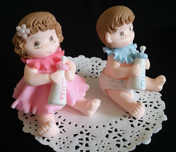 Twins Baby Shower Cake Topper Twins Girl and Boy Cake Topper Baby Shower Cake Decorations - Cake Toppers Boutique