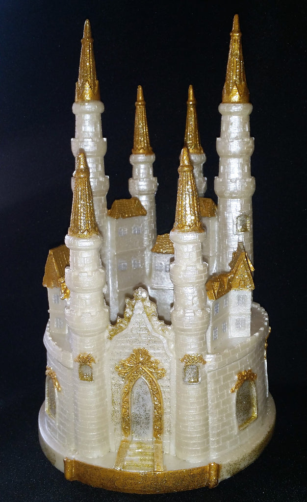Castle Cake Topper, Princess Birthday Party Decorations In Gold or Silver - Cake Toppers Boutique