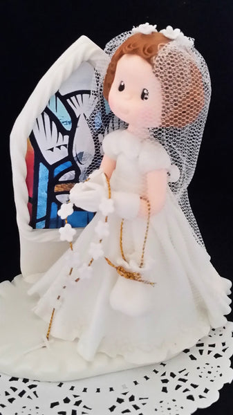 Communion Girl Or Boy Cake Topper Girl with Rosary First communion Boy Cake Topper - Cake Toppers Boutique