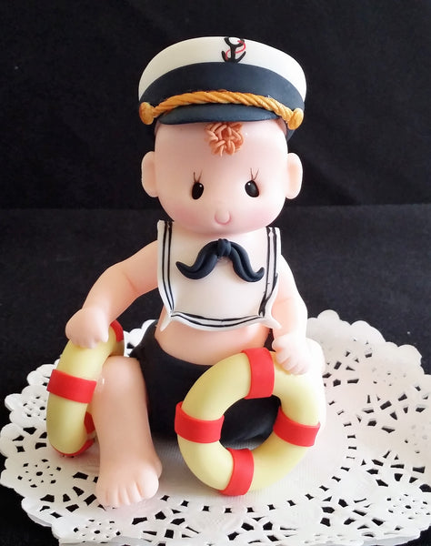 Nautical Birthday Decorations Sailor Cake Topper Nautical First Birthday - Cake Toppers Boutique