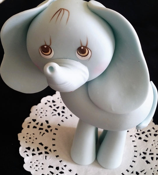 Elephant Cake Topper  Elephant Baby Shower Elephant in Pink, Blue or Gray - Cake Toppers Boutique