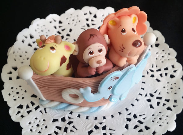 Noah's Ark Cake Toppers Noah's Ark Baby Shower Ark with Animals Cake Decorations - Cake Toppers Boutique