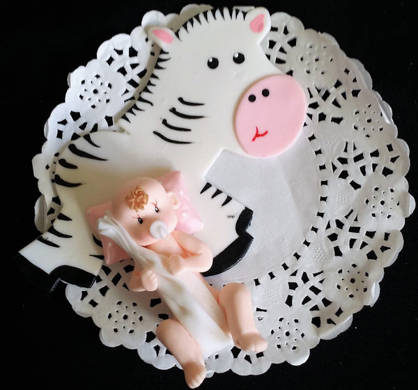 Zebra and Baby Cake Decorations Safari Cake Topper Zebra Cake Decoration 2pcs - Cake Toppers Boutique