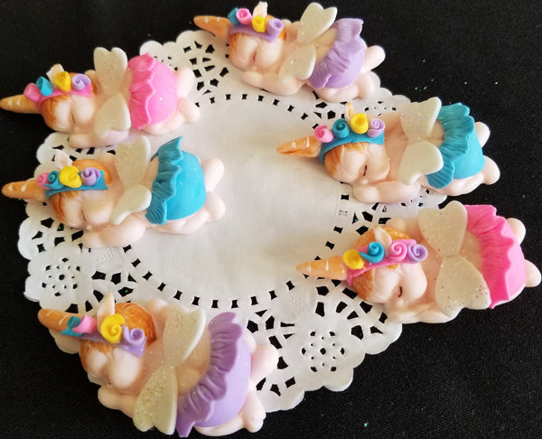 Unicorn Baby Shower Favors Unicorn Cupcake Toppers Rainbow Unicorn Figurines 12pcs - Cake Toppers Boutique