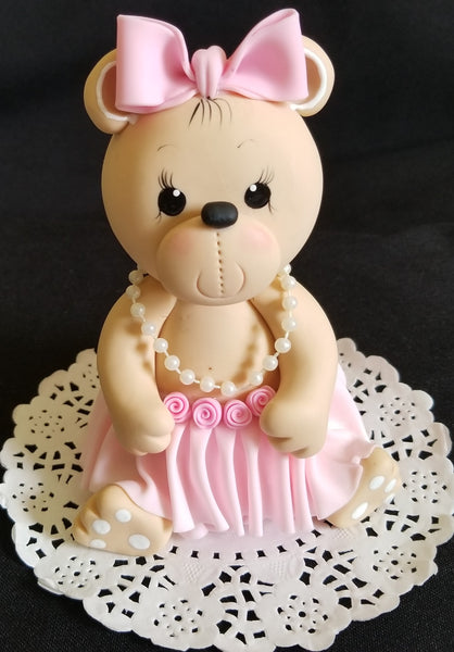 Baby Bear Cake Topper Pink Bear Cake Decoration Teddy Bear Cake Topper - Cake Toppers Boutique