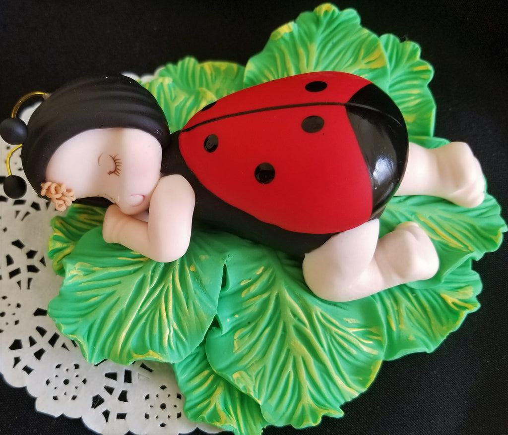 Strange Lady Bug Birthday Cake Decorations Lady Bug Baby Shower Lady Bug Funny Birthday Cards Online Alyptdamsfinfo