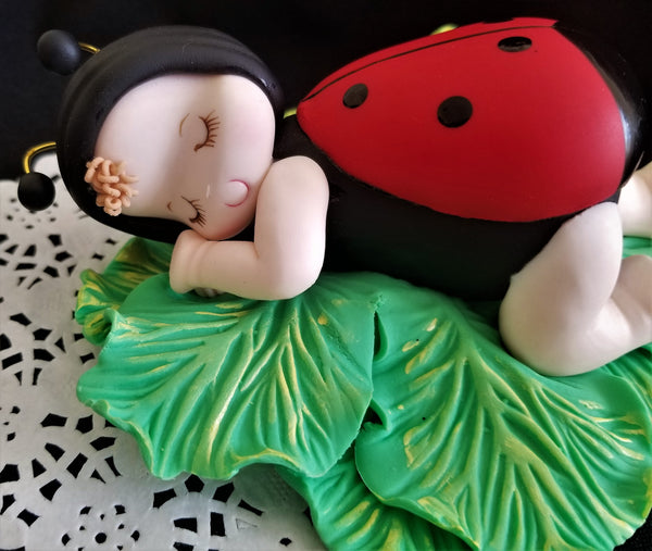 Lady Bug Birthday Cake Decorations, Lady Bug Baby Shower, Lady Bug Party Decor - Cake Toppers Boutique