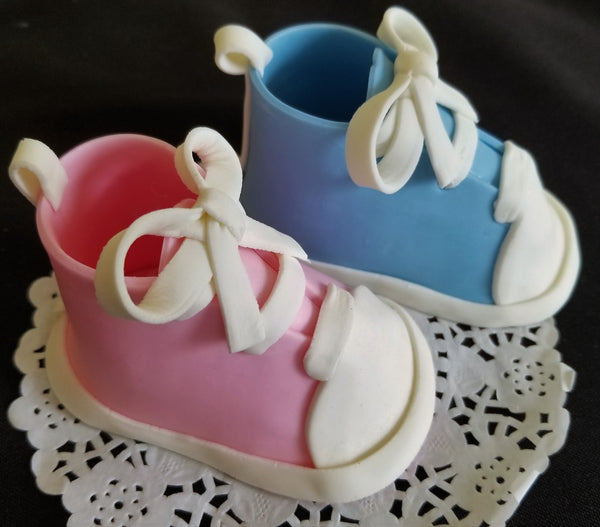 Baby Booties Cake Topper Baby Shoes Cake Decoration in Blue or Pink  Gender Reveal Baby Shower 2pcs - Cake Toppers Boutique
