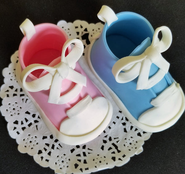 Baby Booties Cake Topper Baby Shoes Cake Decoration in ...