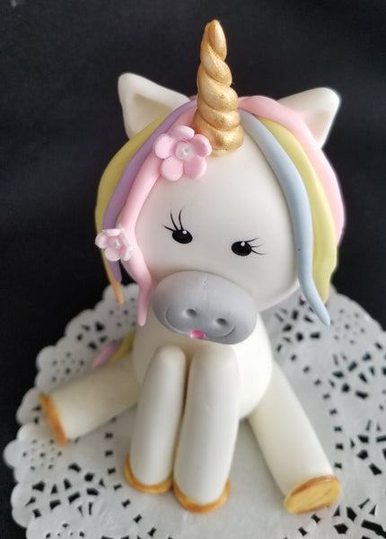 Unicorn Cake Decorations Rainbow Colors Unicorn Cake Topper - Cake Toppers Boutique