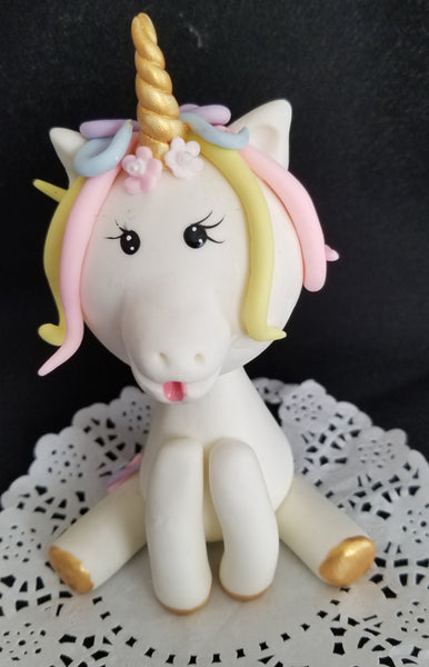 Rainbow Unicorn Cake Topper Unicorn Birthday Party Decorations - Cake Toppers Boutique