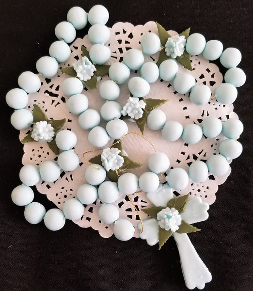 Rosary Cake Topper First Communion or Baptism Cake Decorations Communion Keepsake - Cake Toppers Boutique