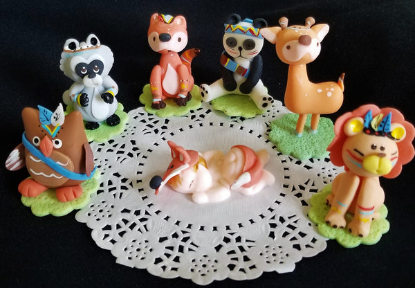 Woodland Cake Topper Forest Decorations, Woodland Birthday Decor Woodland Baby Shower - Cake Toppers Boutique