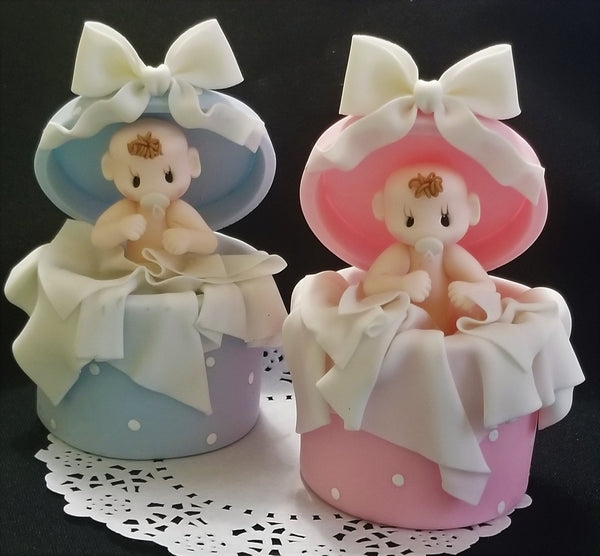Baby in a Surprice Box Cake Topper Baby Shower Cake Topper Twins Baby Cake Decor - Cake Toppers Boutique