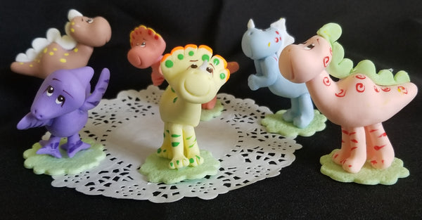 Dinosaur Cake Topper Dinosaur Birthday Party Cake Figurines Set 6 Pcs - Cake Toppers Boutique